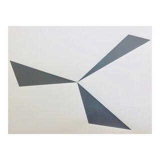 """Original Acrylic Painting """"Gray Pinwheel"""""""