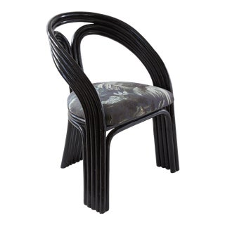 1960s Hollywood Regency Black Chair For Sale
