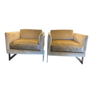 Original Midcentury Club Chair by Milo Baughman - a Pair For Sale