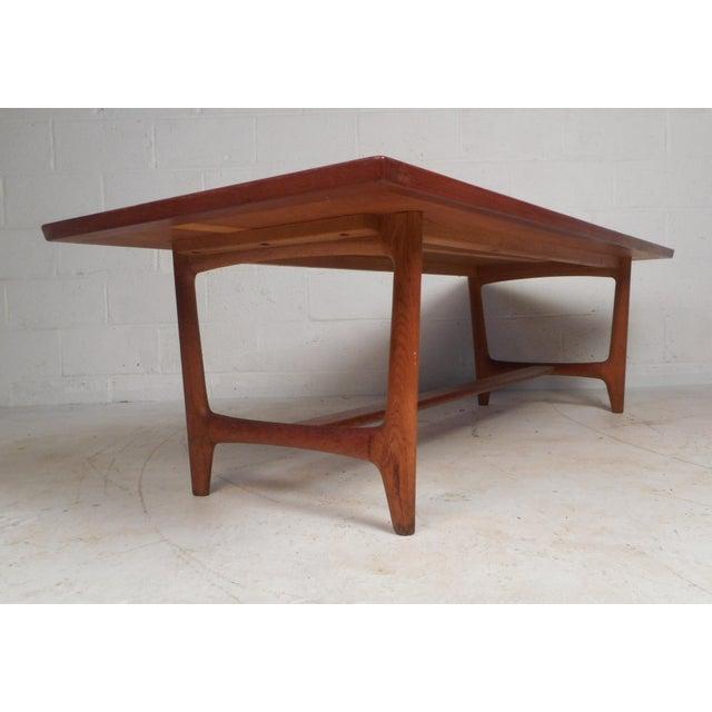 Mid-Century Modern Vintage Modern Walnut Coffee Table For Sale - Image 3 of 12