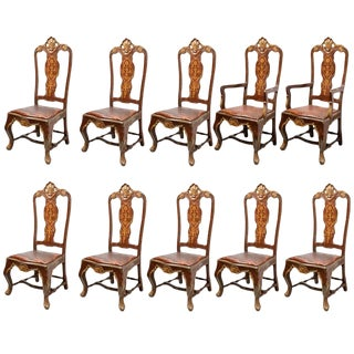Venetian Style Dining Chairs - Set of 10 For Sale