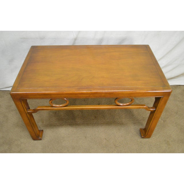 Mid-Century Modern James Mont Style Asian Influenced Side Table For Sale - Image 10 of 13