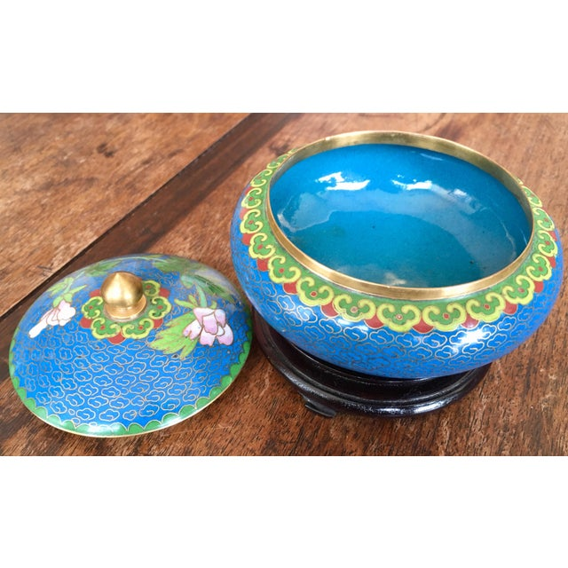 1970s Chinese Cloisonne Trinket Box For Sale - Image 11 of 13