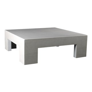 Low Square Table - Cream Lacquer For Sale