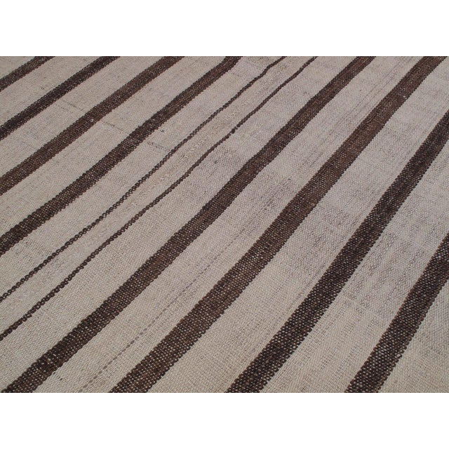 """1950s Striped """"Jajim"""" in Brown and Ivory For Sale - Image 5 of 6"""