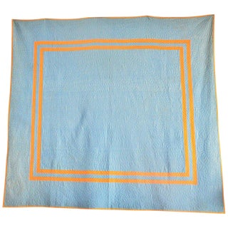 Amish Plain Quilt From Ohio, 1930s For Sale