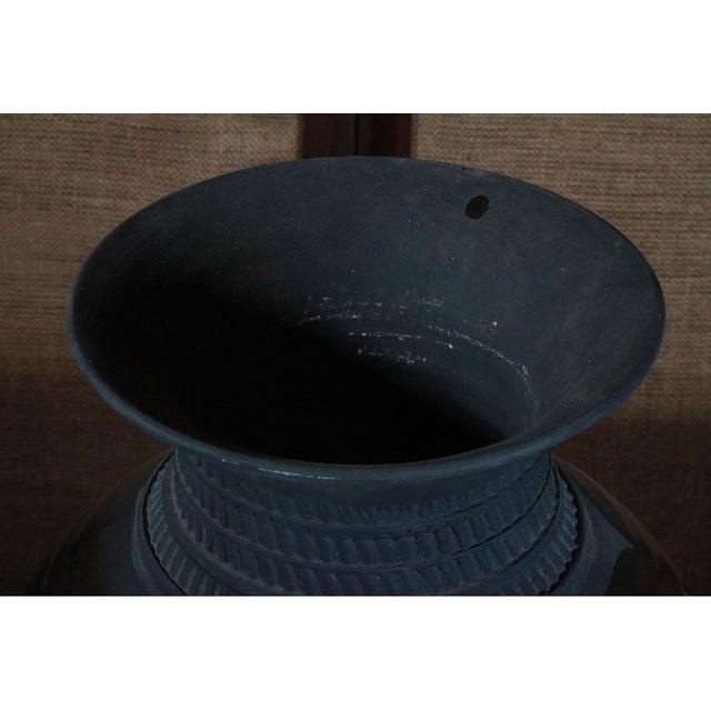 Large Sebastiano Maglio Haeger Black Pottery Vase - Image 6 of 7