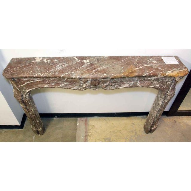 Gray French Louis XV Antique Marble Mantel For Sale - Image 8 of 10