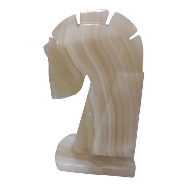 Marble Horse Head Statue - Image 1 of 5