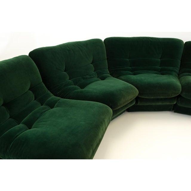Mid-Century Modern Mid-Century Modern Vladimir Kagen for Preview Hunter Green Velvet Sectional Sofa For Sale - Image 3 of 12