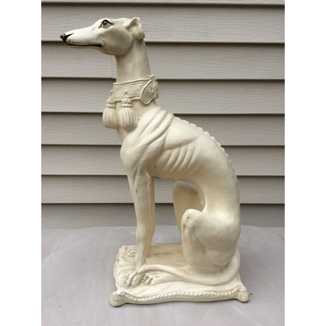 1970s Mid-Century Italian Pottery Greyhound For Sale - Image 4 of 13
