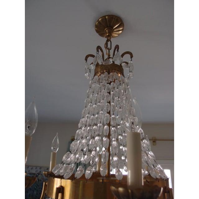 Visual Comfort Brass Chandelier - Image 7 of 7