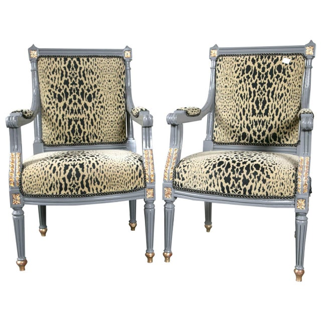 Maison Jansen Louis XVI Style Fauteuils - A Pair - Image 1 of 9