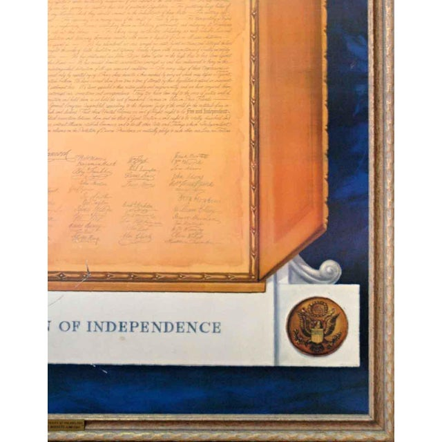 Commemorative Declaration of Independence Lithograph - Image 6 of 10