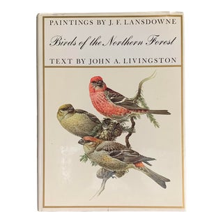 Vintage 1966 Birds of the Northern Forest Hardcover Book of Plates by Lansdowne & Livingston - First Edition For Sale