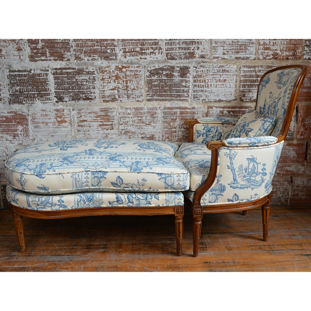 Late 18th Century French Provincial Duchesse Brisée For Sale - Image 11 of 11