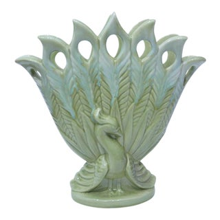 Royal Haeger Peacock Ceramic Vase