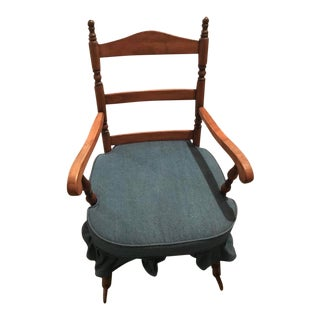 Denim Seat Rocking Chair For Sale