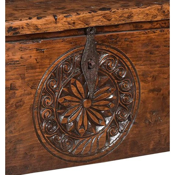 Antique carved wood tribal box/trunk. Beautiful unique decorative and functional piece.