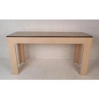 Midcentury Travertine Top Console Table Preview