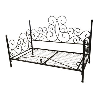 Pottery Barn Amalie Iron Daybed For Sale