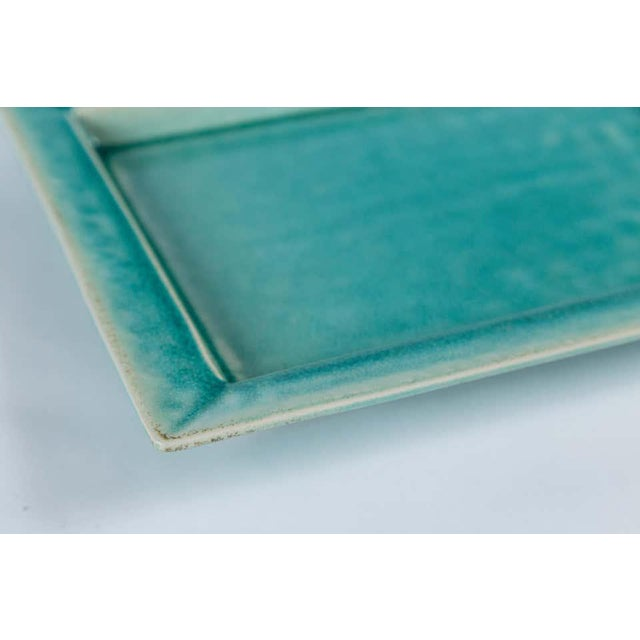Mid 20th Century Vintage Crackle-Glaze Ceramic Tray, by Jars, France, Mid-20th Century For Sale - Image 5 of 11