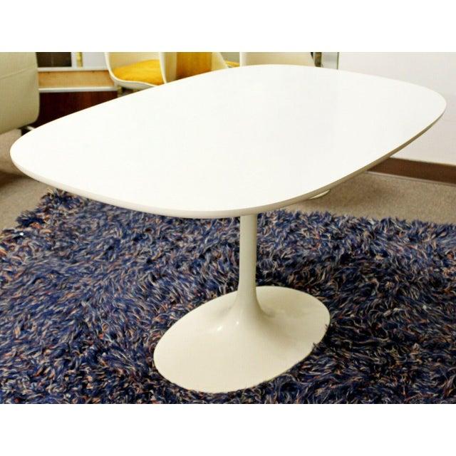 Mid-Century Modern Mid Century Modern Saarinen Style Rectangular White Tulip Dining Table For Sale - Image 3 of 8