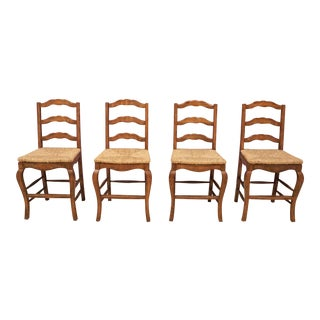 English Country Style Counter Stools- Set of 4