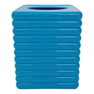 Vintage Blue Plastic Tissue Box Cover For Sale