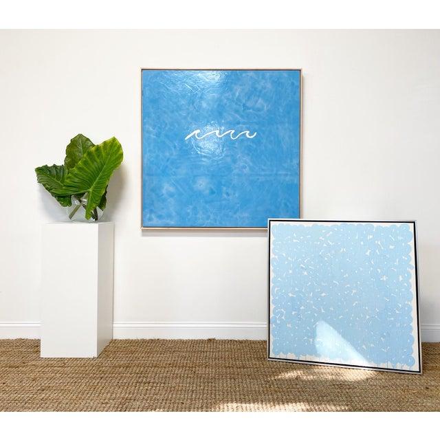 "Encaustic Exclusive John O'Hara ""Series Aw, Blue"" Encaustic Painting For Sale - Image 7 of 8"