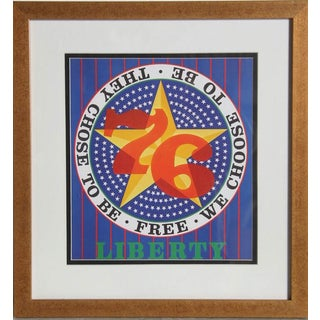 """Robert Indiana, """"Liberty,"""" Offset Lithograph For Sale"""