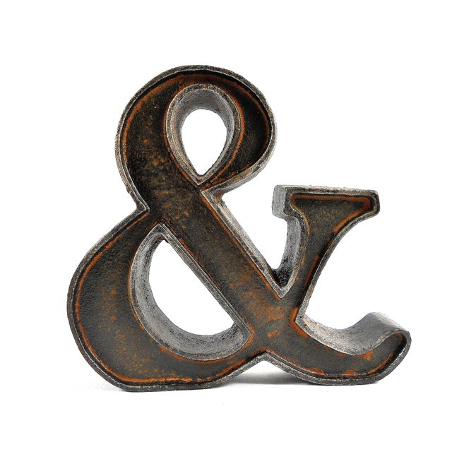 Cast Iron Ampersand Paperweight - Image 7 of 7