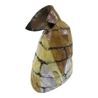 Contemporary Artisan Ceramic Pottery Vase For Sale