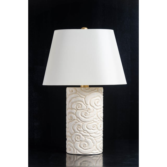 2010s Cloud Design Table Lamp - Cream Lacquer by Robert Kuo For Sale - Image 5 of 5