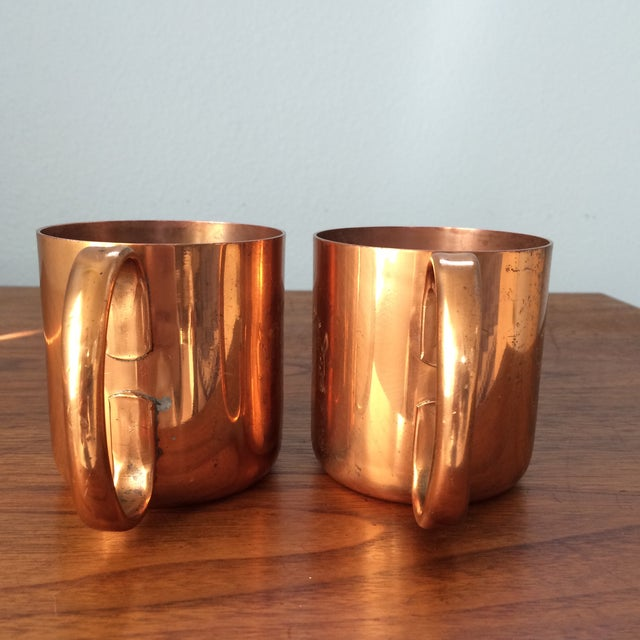 Vintage Copper Moscow Mule Mugs - A Pair | Chairish