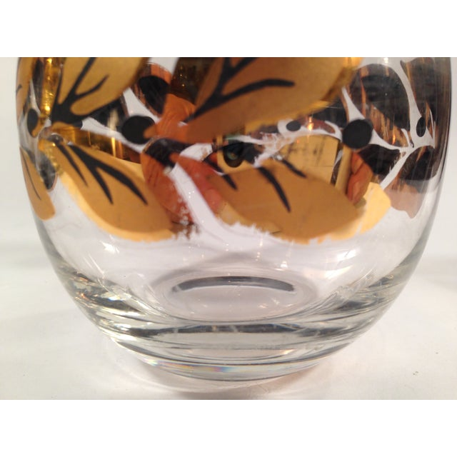 Gold & Black Roly Poly Bar Glasses - S/6 - Image 7 of 8