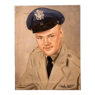 1950's U.S. Marine Portrait Oil Painting For Sale