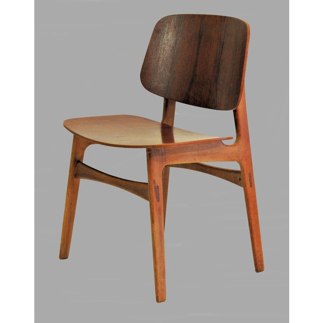 Fredericia Stolefabrik Mid Century Borge Mogensen Shell Chairs- A Pair For Sale - Image 4 of 8