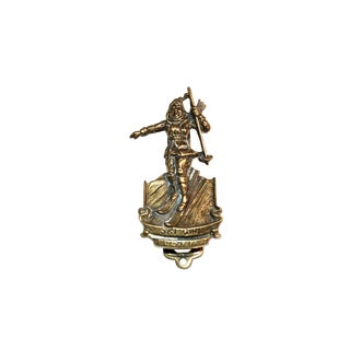 New Zealand Ski Girl Door Knocker For Sale
