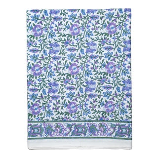 Aria Fitted Sheet, Queen - Lavender & Blue For Sale