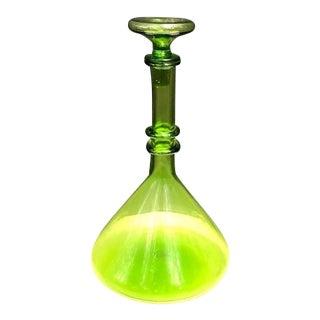 Green Glass Beaker Decanter For Sale