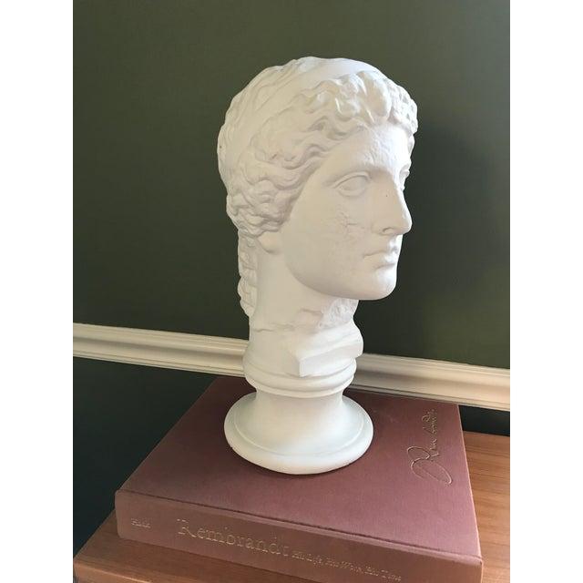 Vintage Plaster Female Bust For Sale - Image 11 of 11