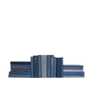 Retro Denim MIX - Set of Twenty Decorative Blue Books