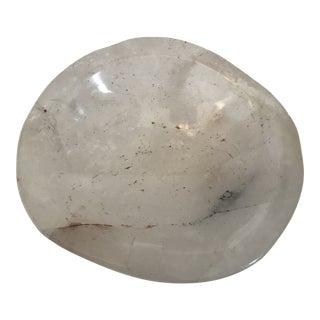 Polished Rock Crystal Quartz Bowl For Sale