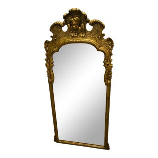 Large Italian Carved Venetian Gold Walnut Mirror For Sale