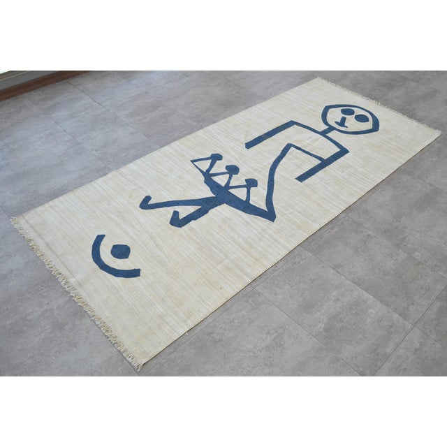 2010s Paul Klee - Pochoir Unfall (Accident) - Inspired Silk Hand Woven Area - Wall Rug 3′ × 6′8″ For Sale - Image 5 of 12