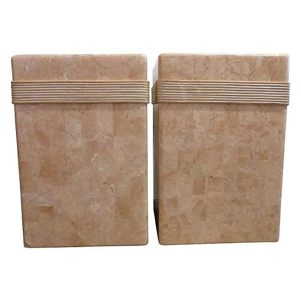 Mid-Century Tessellated Stone Side Tables - Pair - Image 6 of 6