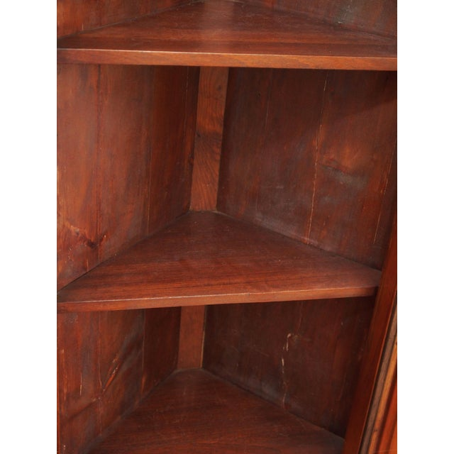 Pair of 19th Century Neoclassical Corner Cabinets For Sale - Image 4 of 7