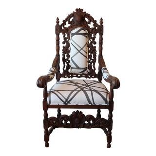 1900s Vintage Renaissance Revival French Arm Chair For Sale
