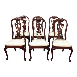 1990s Vintage Councill Craftsmen Mahogany Dining Chairs- Set of 6 For Sale